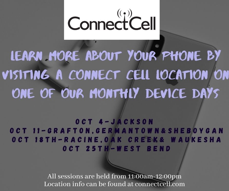 October Device Days Racine, Oak Creek, Waukesha Connect Cell