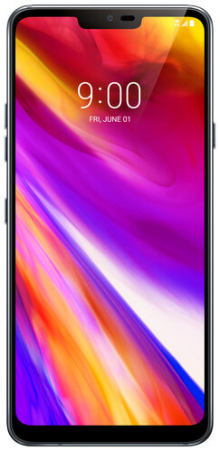 lg g7 thinq gray front
