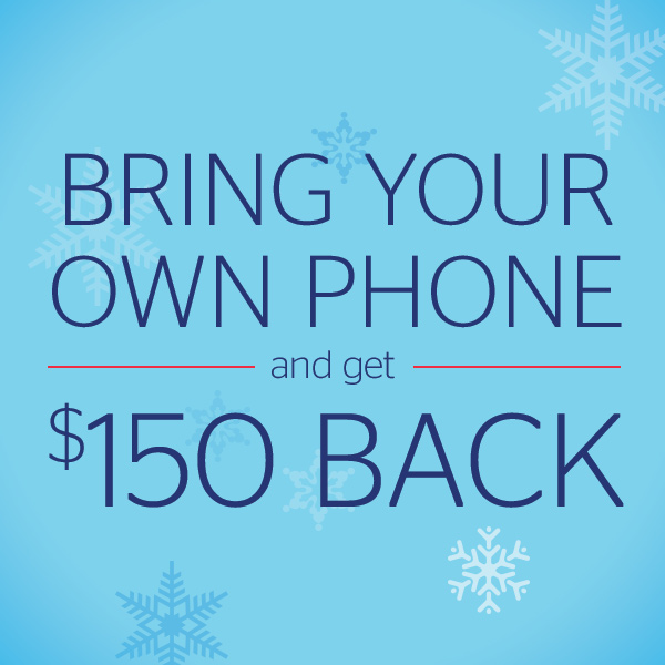 Bring Your Own Phone and Get $150 Back